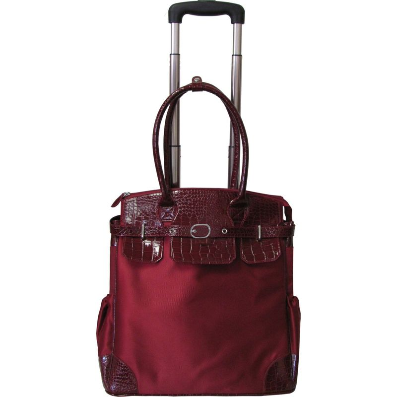 アメリ レディース スーツケース バッグ Deluxe Skylar Women's Large Rolling Laptop Tote Red