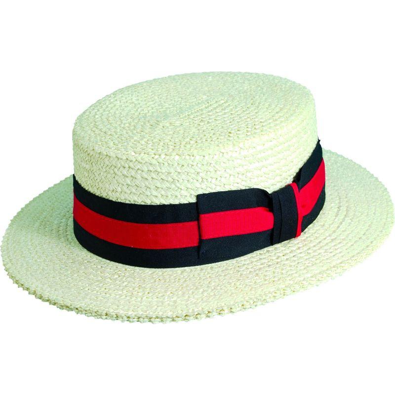 スカラハッツ メンズ 帽子 アクセサリー Straw Boater M - Bleach
