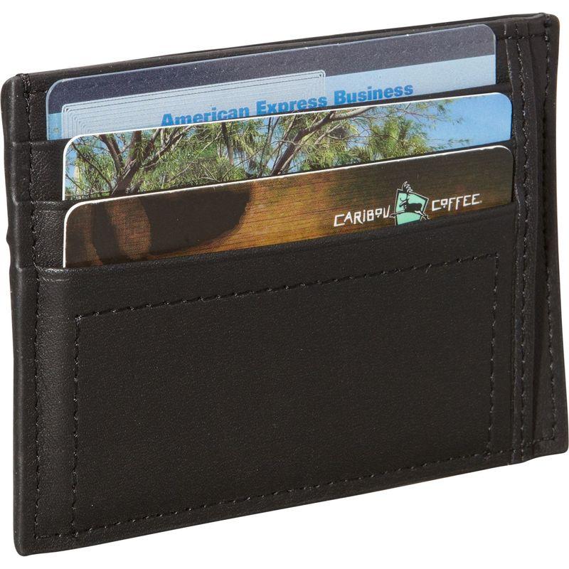 ロイスレザー メンズ 財布 アクセサリー Nappa Prima Men's Card Case Black