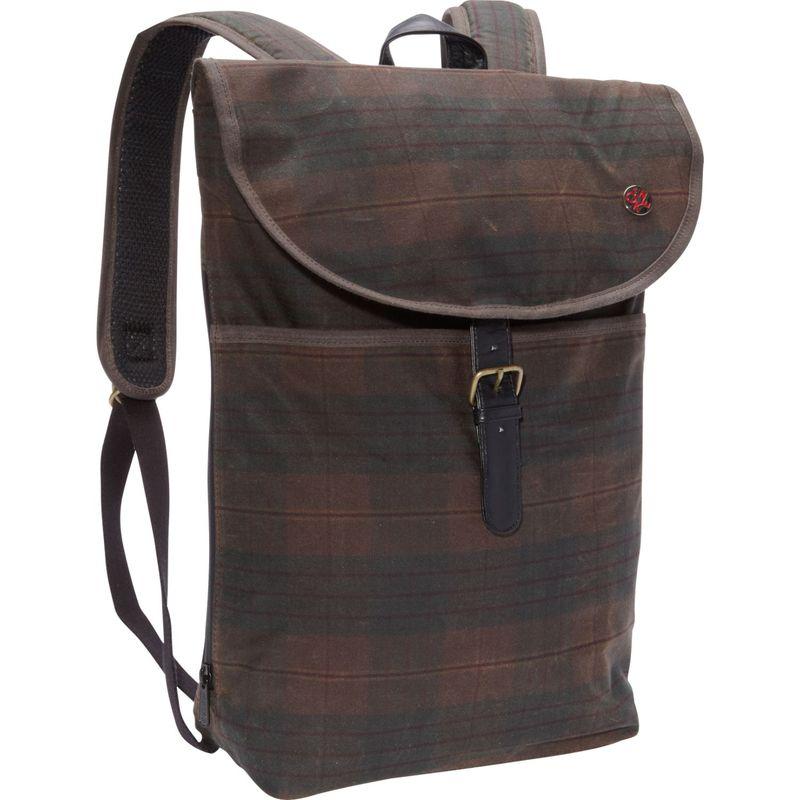 トーケン メンズ バックパック・リュックサック バッグ Bergen Waxed Backpack (MD) Dark Brown Plaid