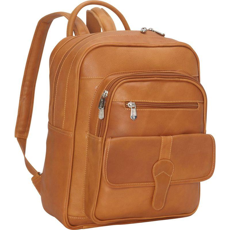 ピエール メンズ バックパック・リュックサック バッグ Medium Buckle Flap Backpack Honey