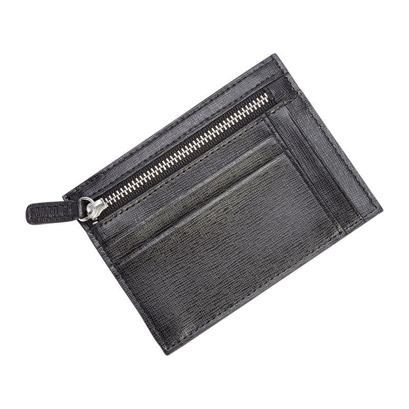 ロイスレザー メンズ 財布 アクセサリー RFID Blocking Slim Card Case Wallet Black