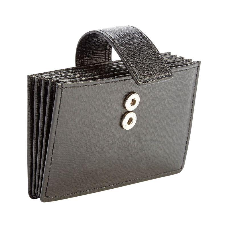 ロイスレザー メンズ 財布 アクセサリー RFID Blocking Credit Card Organizer Wallet Black
