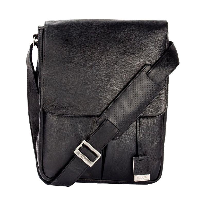 ブガッティ メンズ スーツケース バッグ Soledad Messenger Bag Leather Black