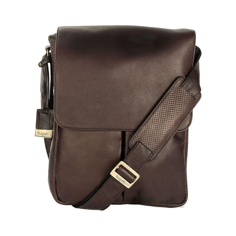 ブガッティ メンズ スーツケース バッグ Soledad Messenger Bag Leather Brown