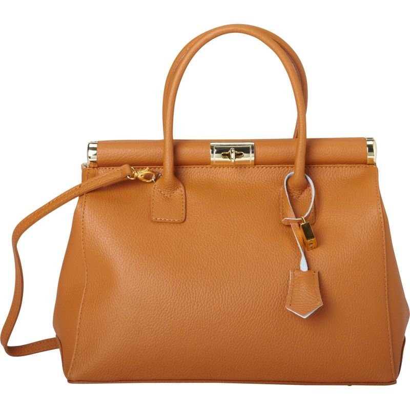シャロレザーバッグス メンズ ハンドバッグ バッグ Elegant Italian Leather Tote and Shoulder Bag Brown