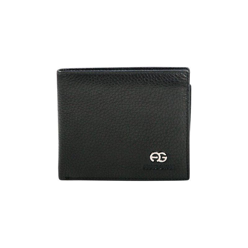 ダセイン メンズ 財布 アクセサリー Men's Genuine Top Grain Leather Wallet Black