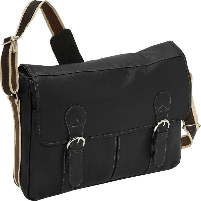 ピエール メンズ スーツケース バッグ Classic Expandable Laptop Messenger Bag Black
