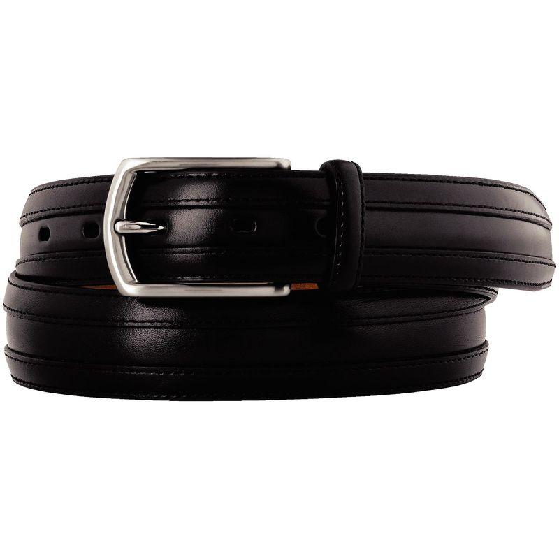 ジョンストンアンドマーフィー メンズ ベルト アクセサリー Double Calf Belt Black - Size 34