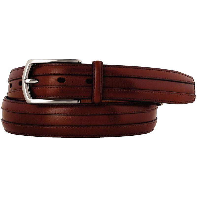 ジョンストンアンドマーフィー メンズ ベルト アクセサリー Double Calf Belt Cognac - Size 34