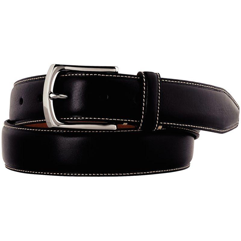 ジョンストンアンドマーフィー メンズ ベルト アクセサリー Topstitched Belt 44 - Black