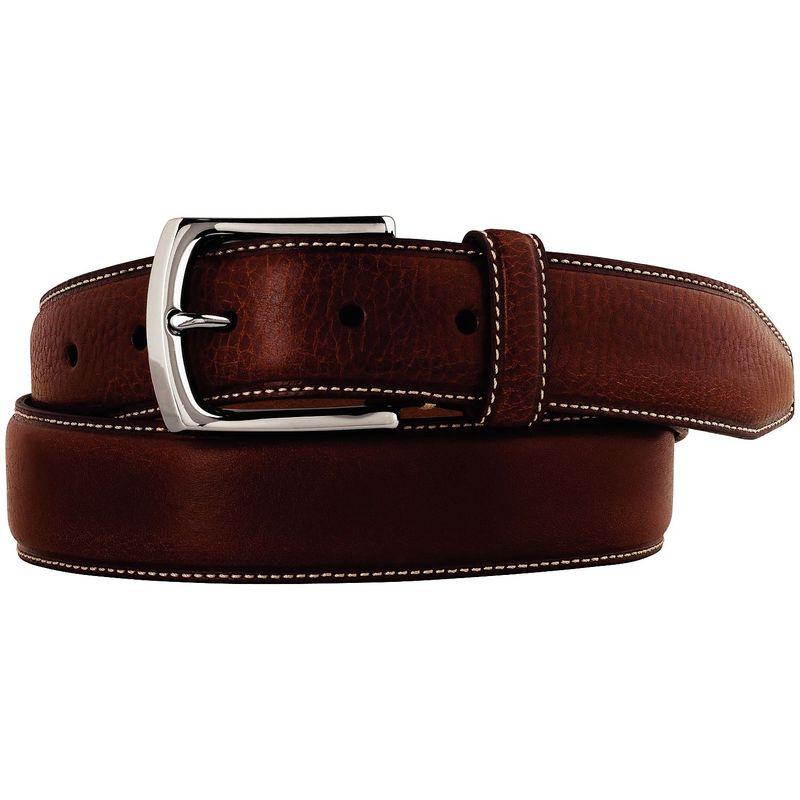 ジョンストンアンドマーフィー メンズ ベルト アクセサリー Topstitched Belt Brown-40
