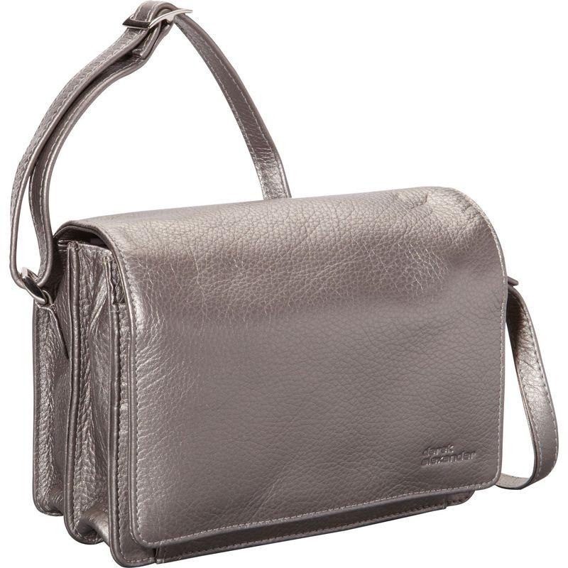 デレクアレクサンダー メンズ ショルダーバッグ バッグ Full Flap Multi Compartment Organizer Shoulder Bag Silver