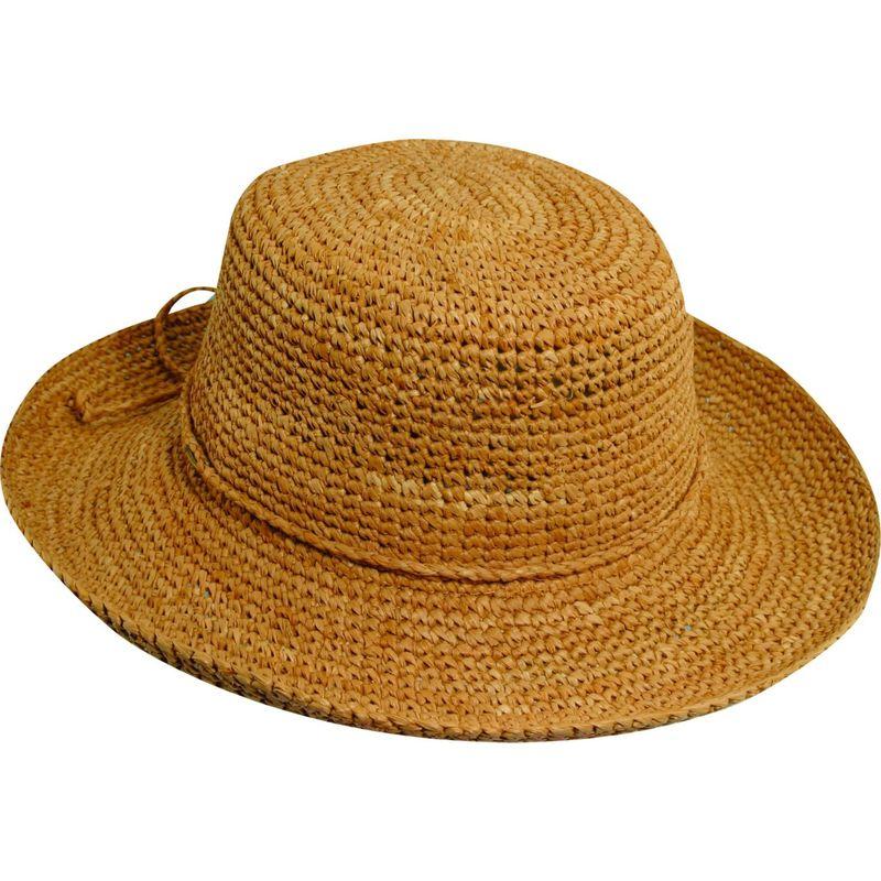 送料無料 サイズ交換無料 スカラハッツ メンズ アクセサリー 帽子 One Size - Tea スカラハッツ メンズ 帽子 アクセサリー Dyed Crochet Raffia w/ Drawstring One Size - Tea