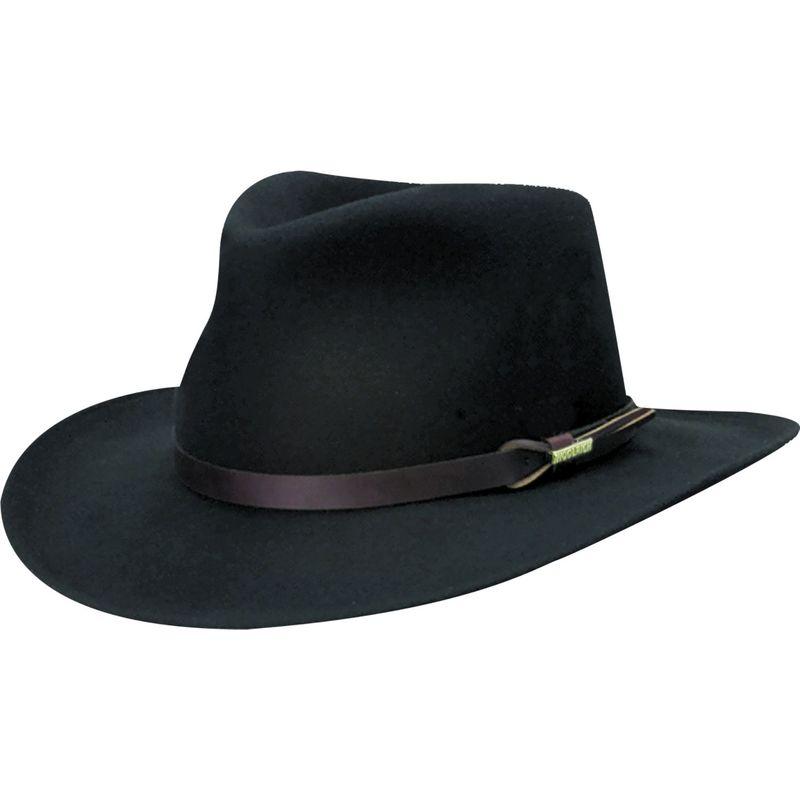 ウール リッチ メンズ 帽子 アクセサリー Crushable Felt Outback Hat XL - Black