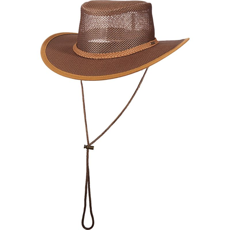 ステトソン メンズ 帽子 アクセサリー Mesh Covered Safari Cap M - Black