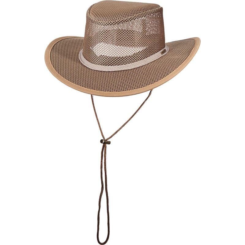 ステトソン メンズ 帽子 アクセサリー Mesh Covered Safari Cap XXL - Black