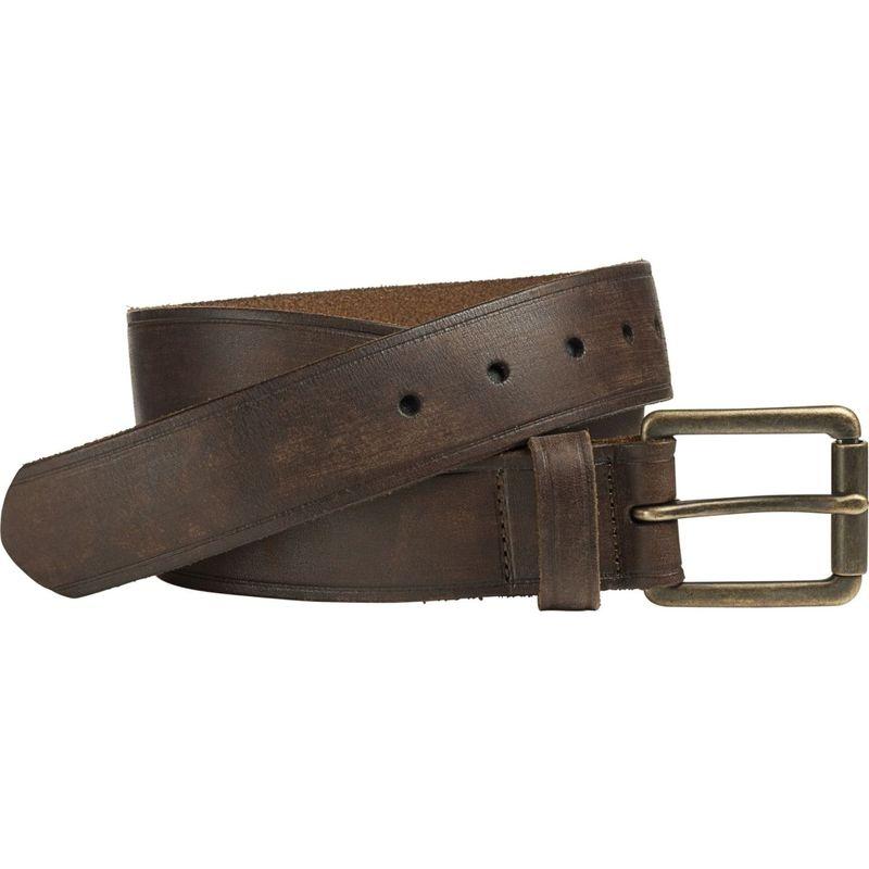 ジョンストンアンドマーフィー メンズ ベルト アクセサリー Burnished Roller Buckle Belt Brown - Size 36