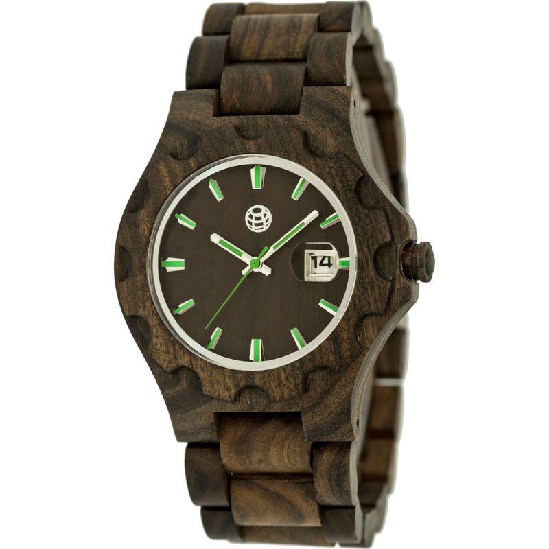 アースウッド メンズ 腕時計 アクセサリー Gila Wood Unisex Watch Dark Brown