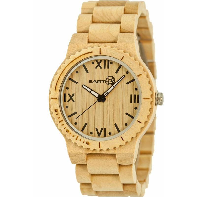 アースウッド メンズ 腕時計 アクセサリー Bighorn Wood Unisex Watch Khaki/Tan