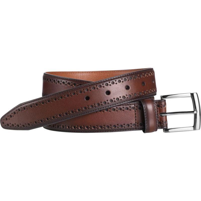 ジョンストンアンドマーフィー メンズ ベルト アクセサリー Perfed Edge Belt Mahogany - Size 36