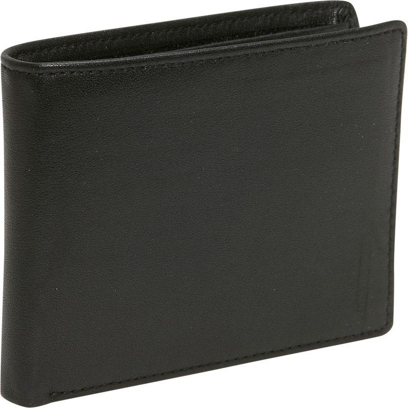 バッドレザー メンズ 財布 アクセサリー Cowhide Leather Slim Wallet Black