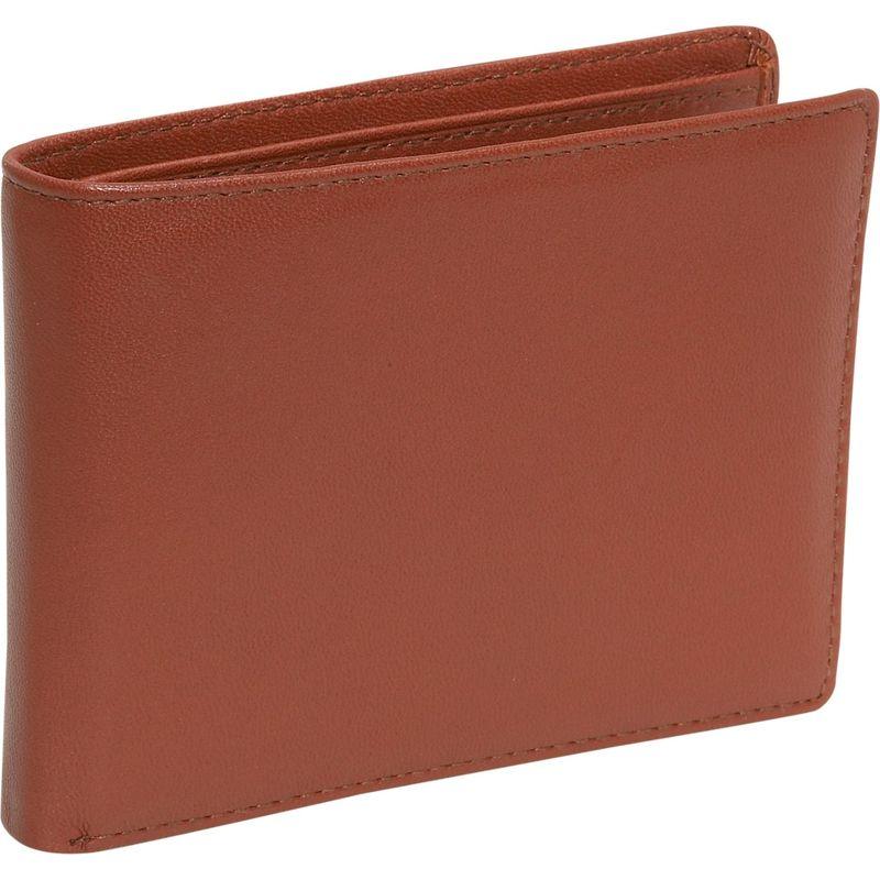 バッドレザー メンズ 財布 アクセサリー Cowhide Leather Slim Wallet w/Passcase Brown