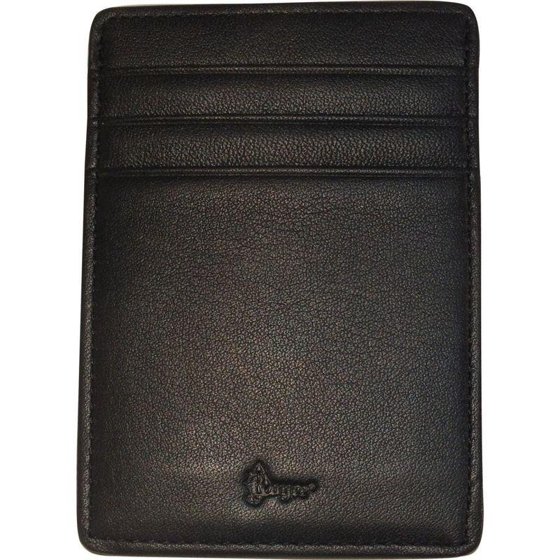 ロイスレザー メンズ 財布 アクセサリー Nappa Prima Magnetic Money Clip Wallet Black