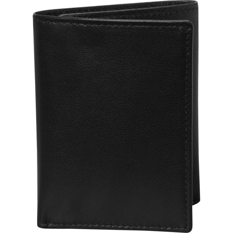 バッドレザー メンズ 財布 アクセサリー Nappa Soft Leather Trifold Wallet Black