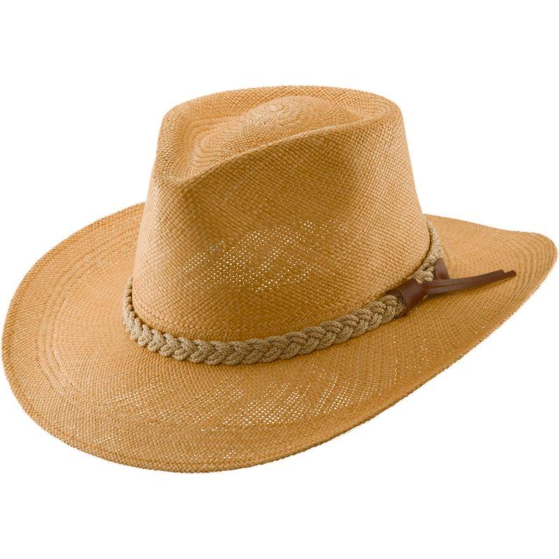 スカラハッツ メンズ 帽子 アクセサリー Panama Outback Hat L - Putty-Large
