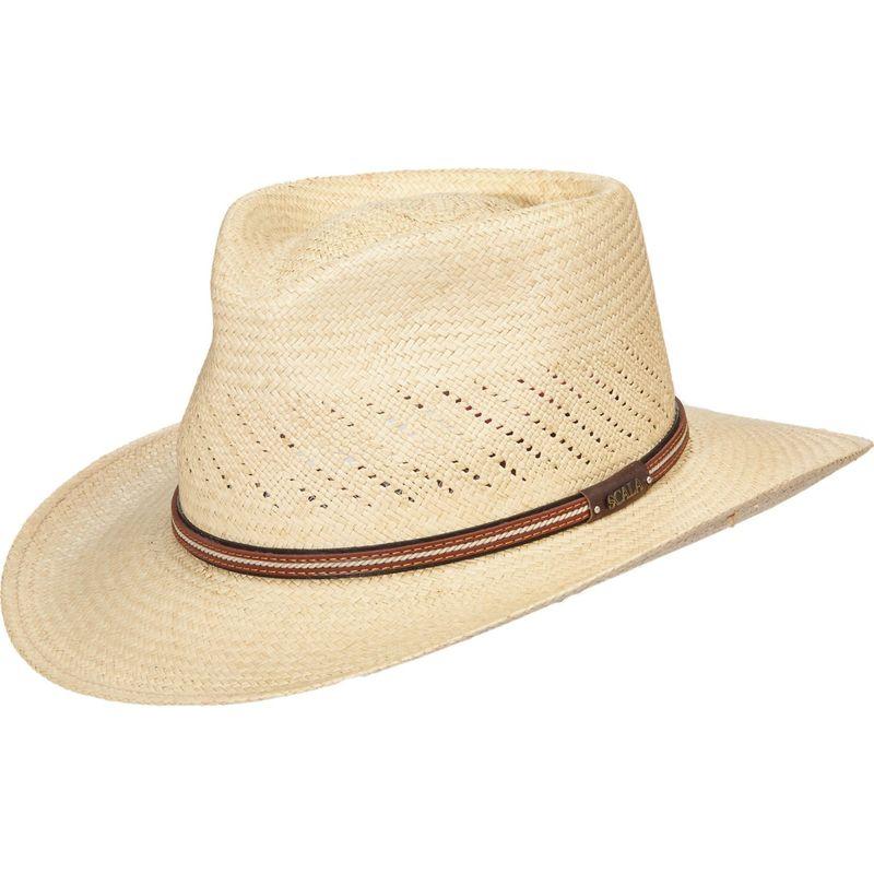 スカラハッツ メンズ 帽子 アクセサリー Vent Panama Outback Hat XL - Natural