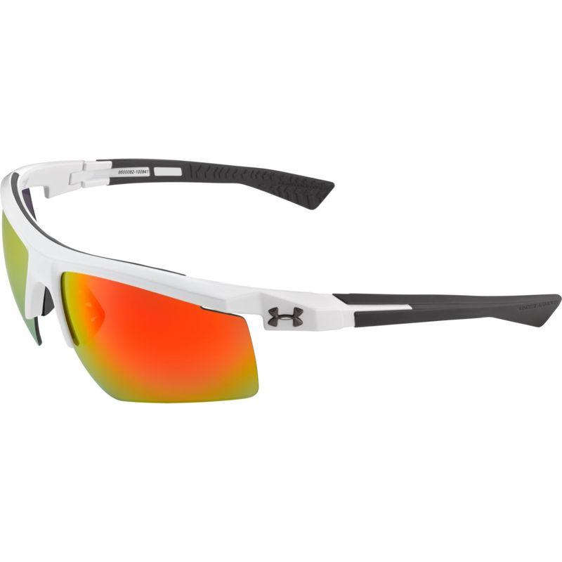 アンダーアーマー メンズ サングラス・アイウェア アクセサリー Core 2.0 Sunglasses Shiny White-Gray Temples/Gray Orange Multiflection