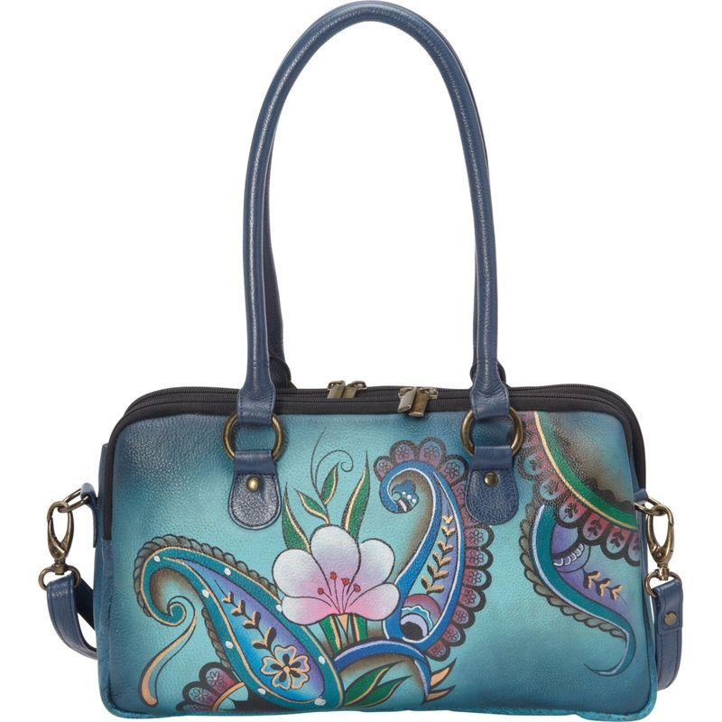 アンナバイアナシュカ メンズ ハンドバッグ バッグ Large Multi Compartment Satchel Denim Paisley Floral
