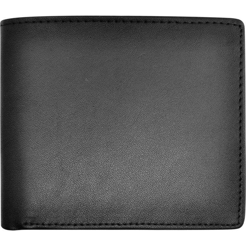 ロイスレザー メンズ 財布 アクセサリー Men's Leather Bifold Credit Card Wallet Black