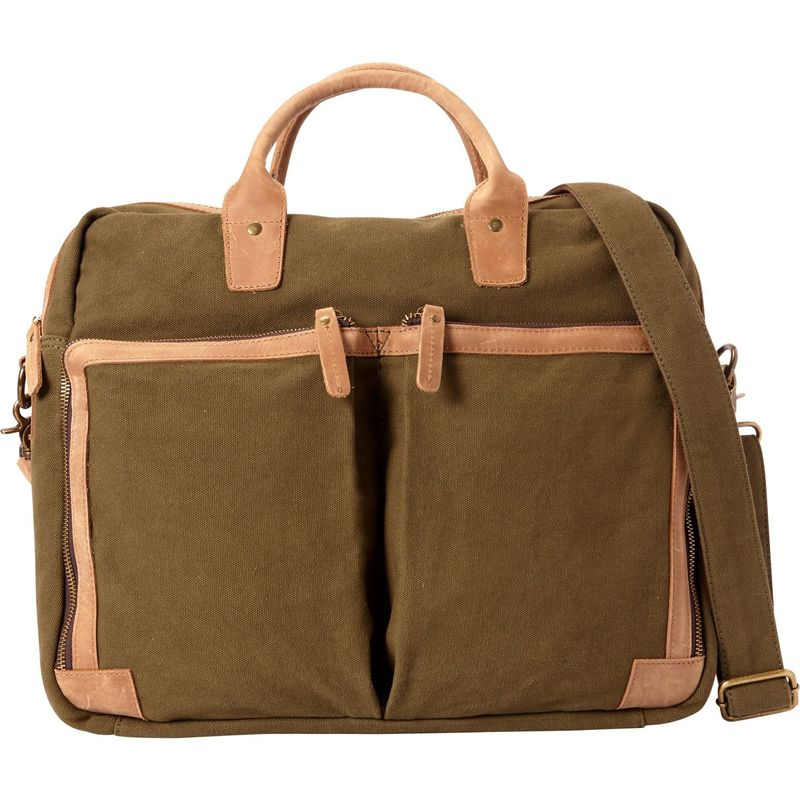 ヴァガボンドトラベラー メンズ スーツケース バッグ Casual Style Cotton Canvas Messenger Bag Green