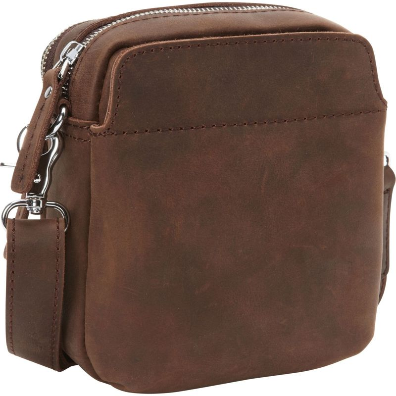 ヴァガボンドトラベラー メンズ ショルダーバッグ バッグ Cowhide Leather Small Shoulder Waist Bag Distress