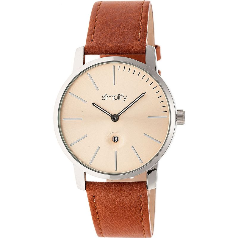 シンプリファイ メンズ 腕時計 アクセサリー The 4700 Unisex Watch Camel/Silver/Bronze