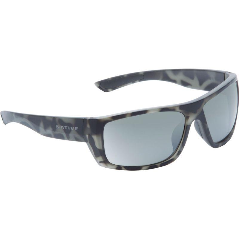 ネイティブアイウェア メンズ サングラス・アイウェア アクセサリー Distiller Sunglasses Matte Gray Tortoise with Polarized Silver Reflex