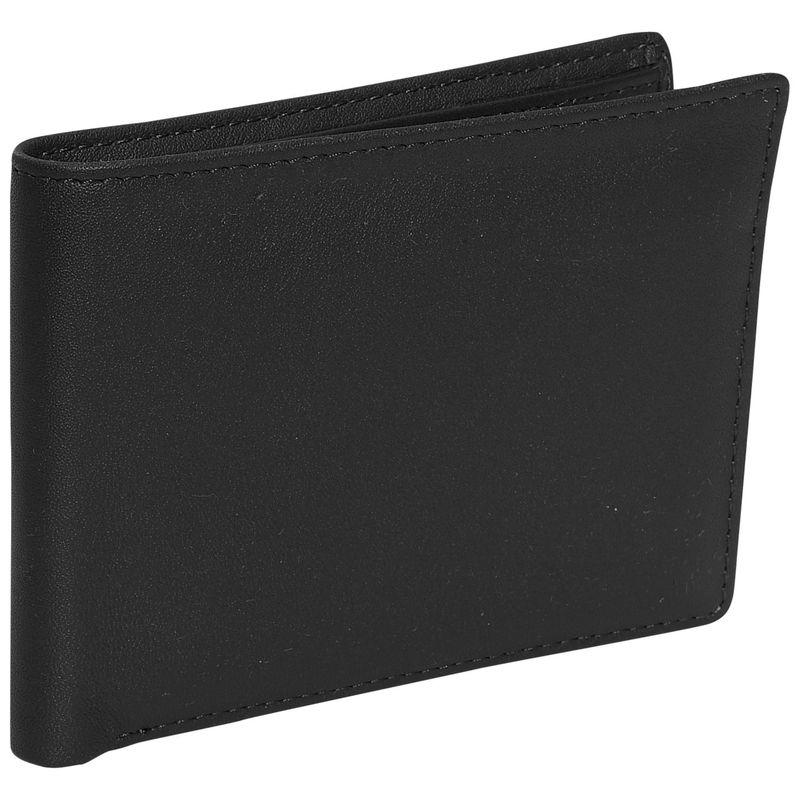 ロイスレザー メンズ 財布 アクセサリー Men's Id Flat Fold Wallet Black