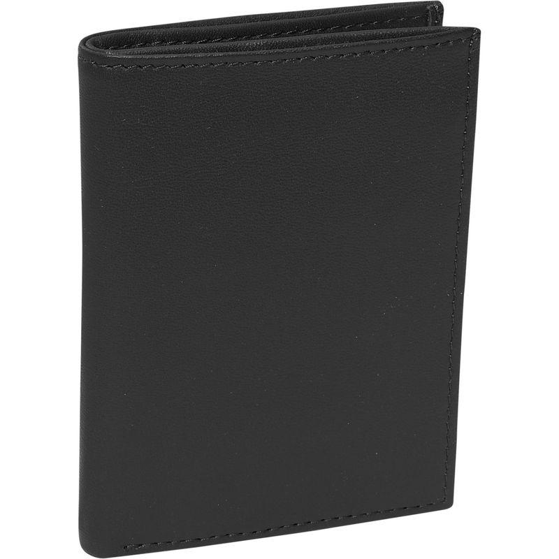 ロイスレザー メンズ 財布 アクセサリー Men's Flip Credit Card Wallet Black