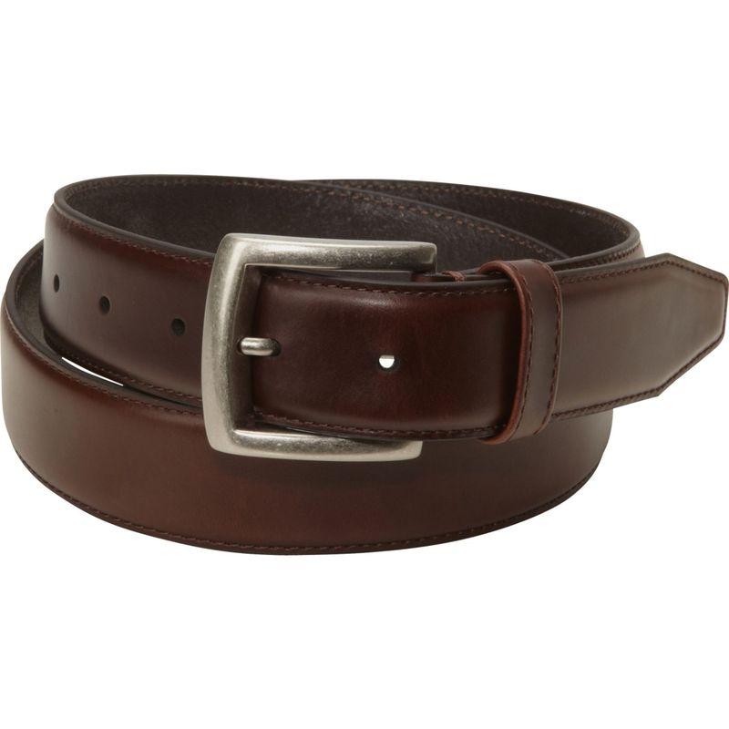 ジョンストンアンドマーフィー メンズ ベルト アクセサリー Waxed Leather Belt Brown-40
