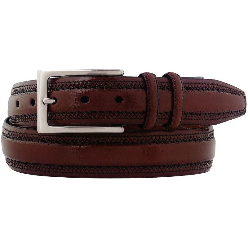 ジョンストンアンドマーフィー メンズ ベルト アクセサリー Double Pinked Belt Cognac - Size 34