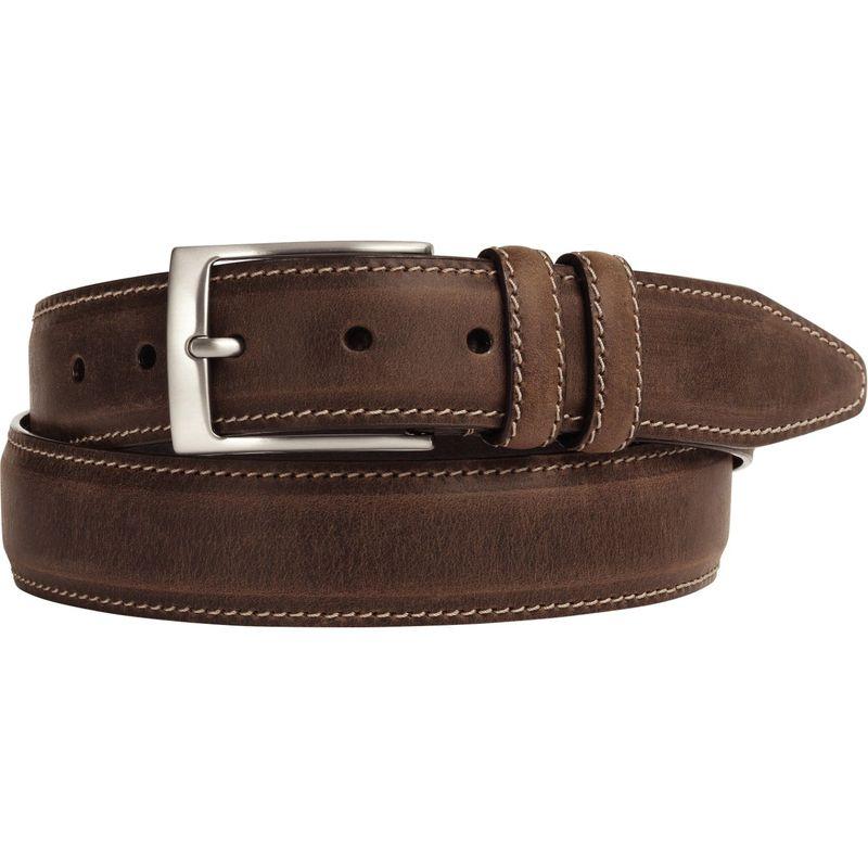 ジョンストンアンドマーフィー メンズ ベルト アクセサリー Distressed Casual Belt Brown-42