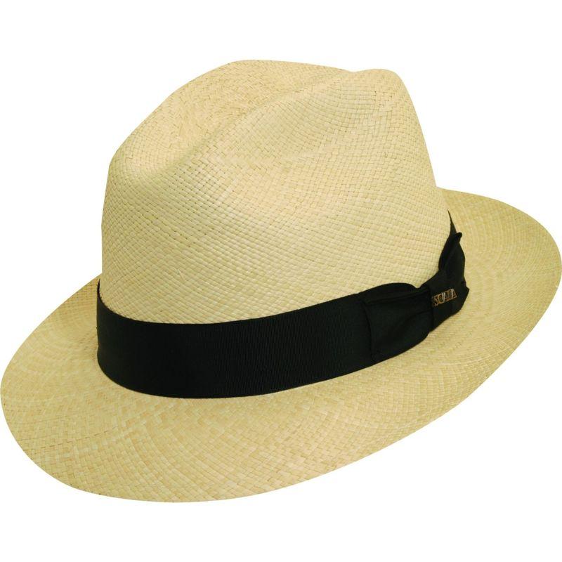 スカラハッツ メンズ 帽子 アクセサリー Panama Snap Brim Hat XL - Natural