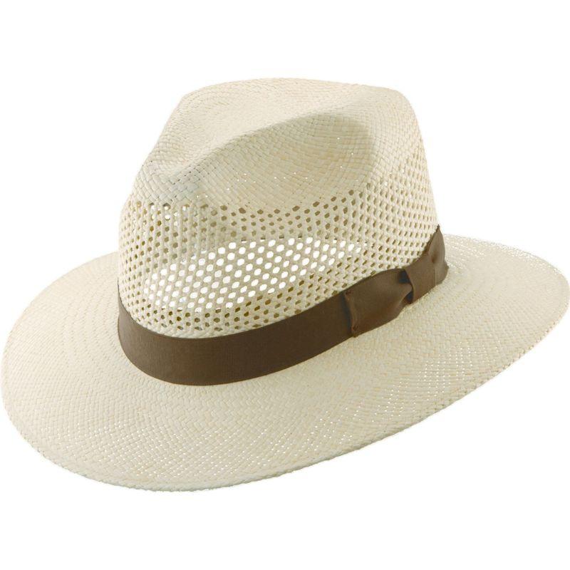 スカラハッツ メンズ 帽子 アクセサリー Vent Panama with Ribbon L - Natural