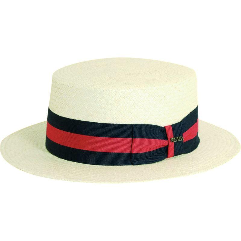 送料無料 サイズ交換無料 スカラハッツ メンズ アクセサリー 帽子 L - Natural スカラハッツ メンズ 帽子 アクセサリー Panama Skimmer Hat L - Natural
