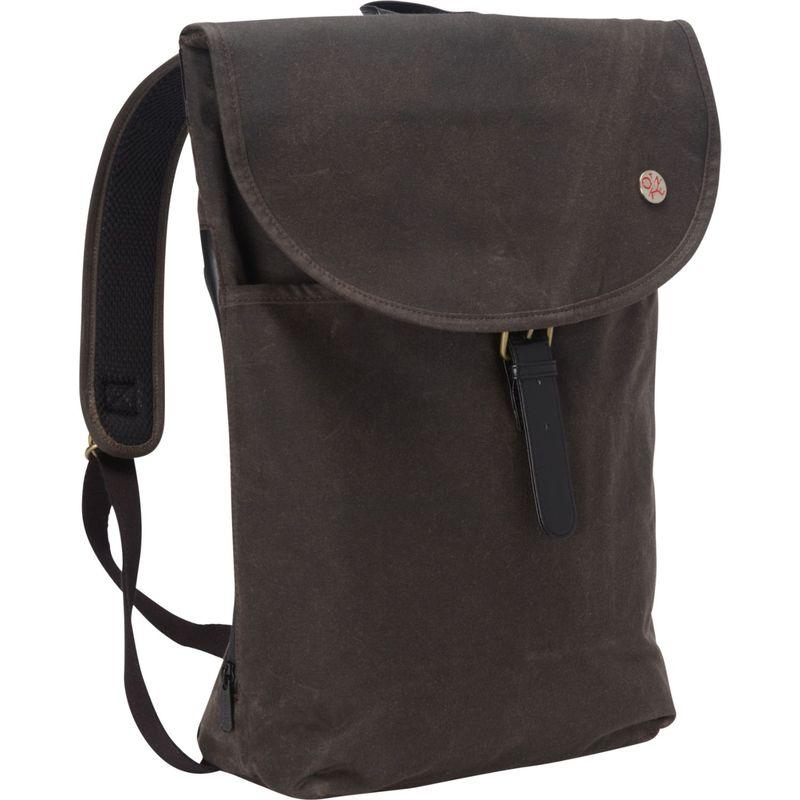 トーケン メンズ バックパック・リュックサック バッグ Bergen Waxed Backpack (L) Dark Brown