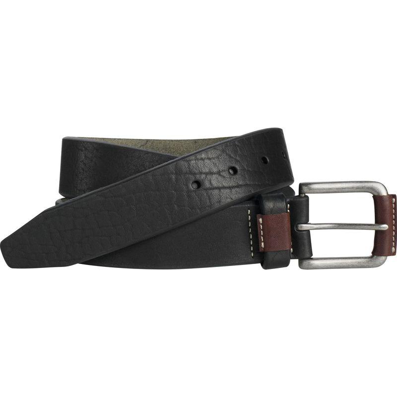 ジョンストンアンドマーフィー メンズ ベルト アクセサリー Wrapped Buckle Belt 34 - Black