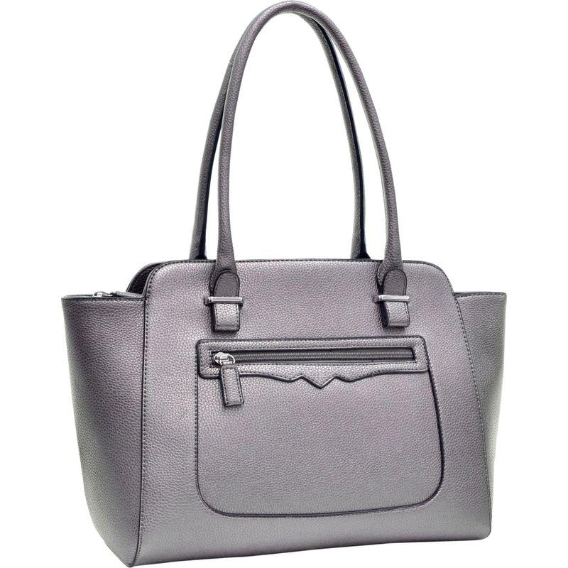 ダセイン メンズ ショルダーバッグ バッグ Faux Leather Shoulder Bag with Front Zipper Pocket Silver