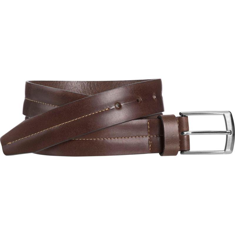ジョンストンアンドマーフィー メンズ ベルト アクセサリー Center Stitch Casual Belt Brown - Size 32